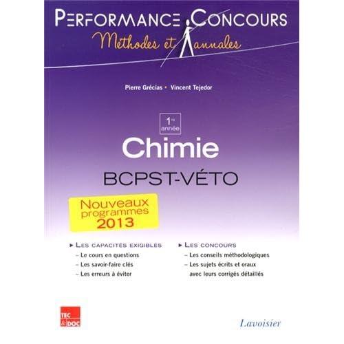 Chimie 1re année BCPST-Véto