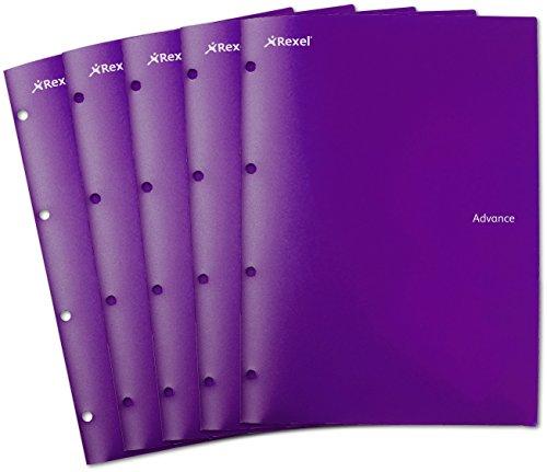 Rexel AZ2103759 Advance Projektmappe, 4 Fächer, 2 Mappen in 1, für 4 Organisationsfächer, lila