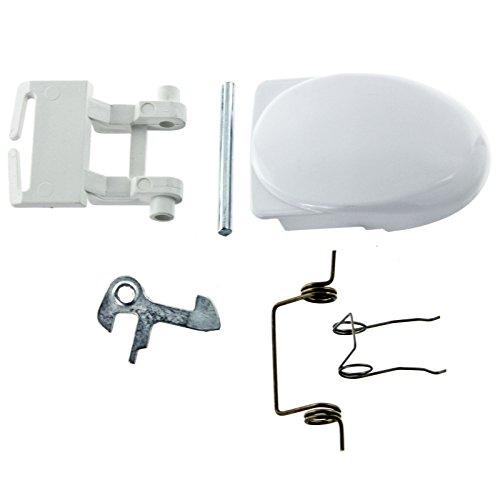 Spares2go puerta blanca mango de bloqueo pasador de la bisagra cierre y para lavadoras Servis