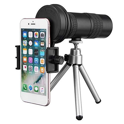 Allibuy Optisches Teleskop Zoom-Einstellung 10-30x Tele Teleskop monokulare Kamera-Objektiv mit Handy Clip-Stativ mit Twist-up Eyecup (Farbe : Weiß, Größe : 128.8 x 43mm)