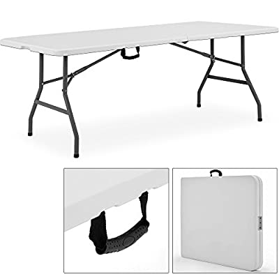 Folding Trestle Table 8Ft Buffet 2.4 Meters Outdoor Indoor Kitchen Home Party Event Wedding Garden - cheap UK light shop.