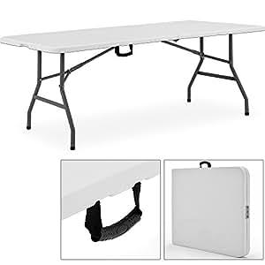 Table camping buffet traiteur pliante 240 cm table jardin - Table exterieure pliante ...