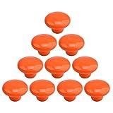 Vicoki - Confezione da 10pomelli per cassetti, graziosi pomelli in ceramica per la camera dei bambini, adatti ad armadietti, armadi, scatole organizer dei giochi, librerie, maniglie per aprire i cassetti -, Orange, taglia unica