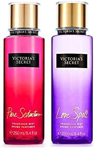 Victoria's Secret Fragrance Body Mist 2 pcs Set Love Spell Plus Pure Seduction, 2x2
