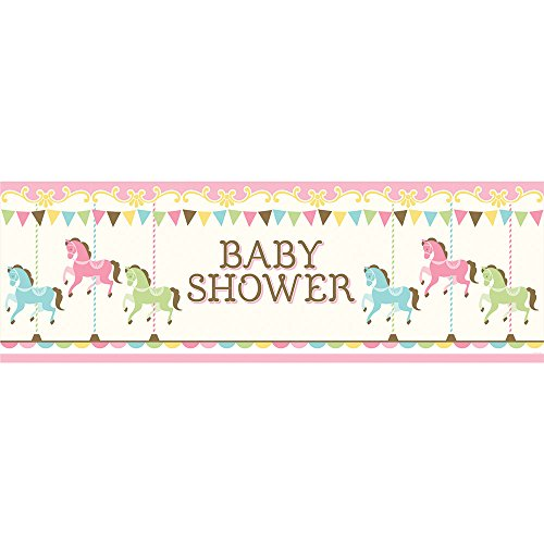 Carousel Giant Party Banner Baby Shower