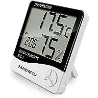 YKHENGTU Indoor Digital Humidity Temperature Thermometer Sensor, Hygrometer Meter Gauge with LCD Display for Room Home Office Indoor Living (White)