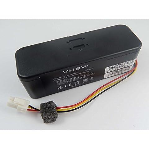 Batería Li-Ion 2000mAh 14.4V vhbw para robot aspirador Samsung Navibot SR8895 Silencio, SR8896, SR8897, SR8898, SR8990 sustituye Samsung