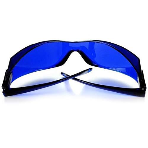 Funnyrunstore IPL-Brille für IPL Beauty Operator Sicherheit Schutzauge Rote Laser Farbe Licht Schutzbrille Medizinischer Patient Breites Spektrum (Blau)