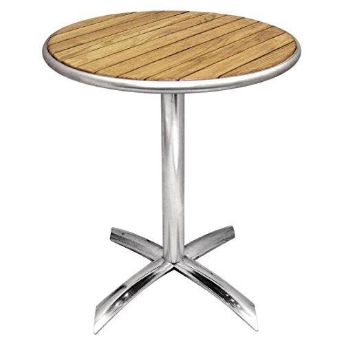 Bolero Flip-Top-Tisch, Esche 720mm x 600mm Restaurant Bar Cafe Kommerziell Outdoor