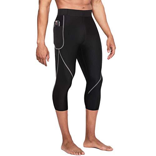 Gotoly Herren Neopren Abnehmen Hosen für Gewichtsverlust Hot Thermo Sauna Sweat Capri Fitness Workout Body Shaper (L, Schwarz)