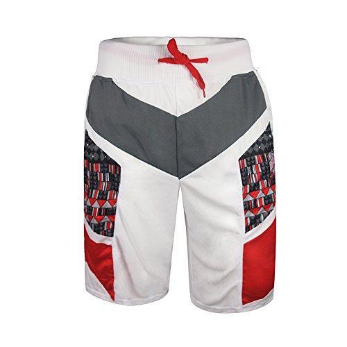 Uomo Nuoto corto MADHERO elastico in vita coulisse Speedo Men SPORT Pantaloncini White Formato cinese XXXL(19W  Inches)