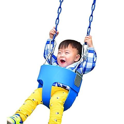 Lonlier Balancoire Enfant Siège Bébé Robuste Complet Avec Corde Chaîne de Fer Robuste Jouets Kids Intérieure/Extérieure