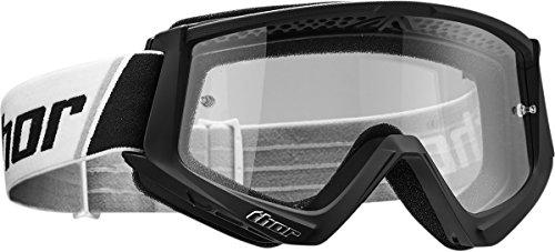 Thor Combat Motocross Goggle Brille SX MX DH Downhill Offroad Enduro schwarz weiss orange (Schwarz)