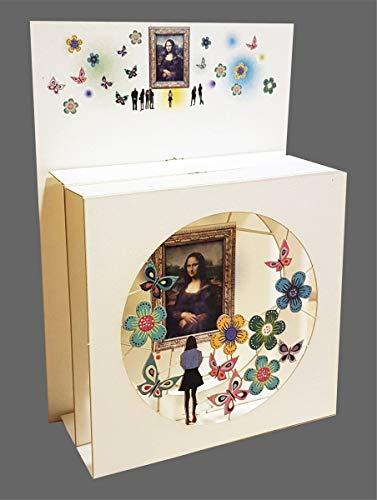 Forever Pop Up 3 Ebenen 3D Laser Karte Geburtstag Hand gesteckt Museum Kunstwerk 17x13cm
