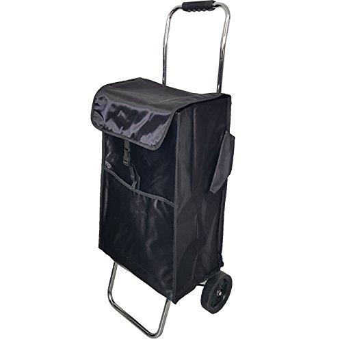 WESTCASE Einkaufstrolley klappbar 54 Liter schwarz glänzend