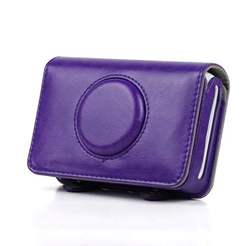 XHC Volle schützende PU-Leder-Kameratasche, Einfarbig PU-Lederetui für Polaroid Snap Touch Camera (Schwarz) (Farbe : Lila) Volle Snap