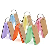 ZARRS Cartes d'Étude Petites,Carte Mémo Mobile 6 Pack Flash-Cards en Papier Mini Bloc-Notes avec Anneau pour Révision Définition Vocabulaire DIY DIY Multicolore 9 * 5.5CM