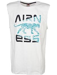 Airness - Debstin blanc turq - Tee shirt sans manches