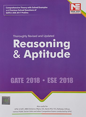 Reasoning & Aptitude for GATE & ESE (Prelims) 2018 - Theory & Previous Solved Questions