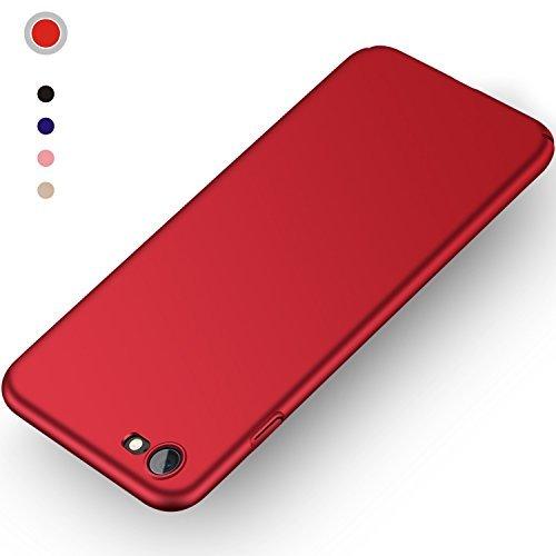 Aollop HüllefüriPhone7/iPhone8, Ultra Dünn Stoßdämpfend,Staubschutz,Anti-Kratz Schutzhülle,FederleichtHülleBumperCoverSchutztascheSchaleCasefüriPhone7/iPhone8(4.7 Zoll- Rot) -
