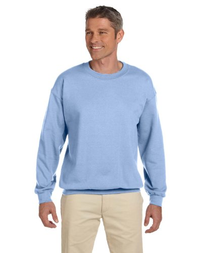 9,4 oz.Ultimate Cotton 90/10 Fleece Crew, klein, hellblau (Crew Cotton Ultimate Sweatshirt)