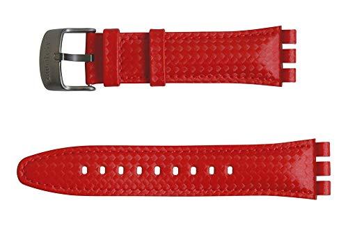 Original Swatch Irony New Chrono Armband Rosso Fuoco AYVM401, Neuware