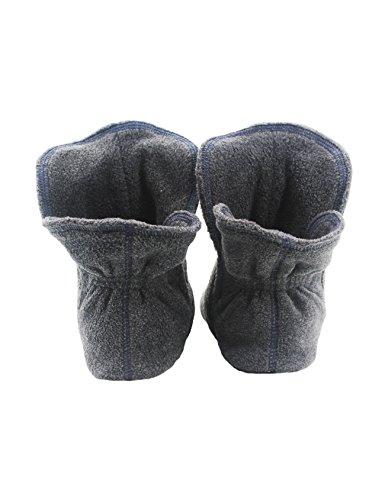 KuschelHausschuhe aus Micro Fleece mit ABS &rutschfester Sohle in versch. - Super flauschige Hausschuhe für Damen, Herren Zinn