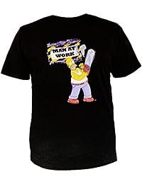 The Simpsons Men's T-Shirt Black Black
