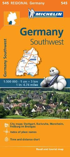Germany Southwest - Michelin Regional Map 545 (Michelin Regional Maps) (Michelin Maps Deutschland)