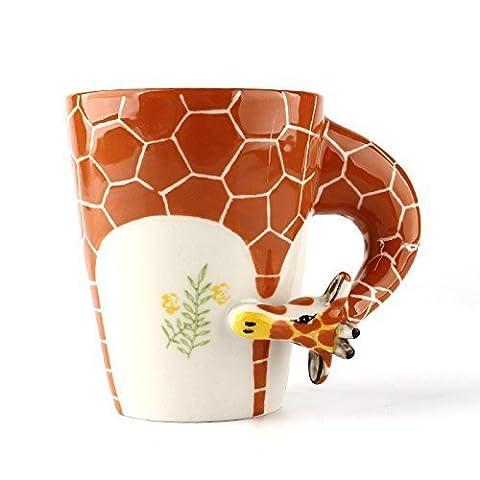 Homee Handmade Creative Art Mug Hand-painted Ceramic Cups Africa Style (Giraffe)