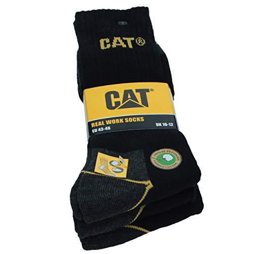 CAT Caterpillar 6 Paires Chaussettes de Travail,