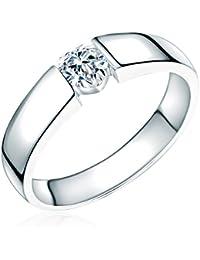Rafaela Donata - Bague, matifié - Argent sterling 925 oxyde de zirconium - Bijoux pour femmes - En plusieurs tailles, bague oxyde de zirconium, bijoux en argent - 60800061
