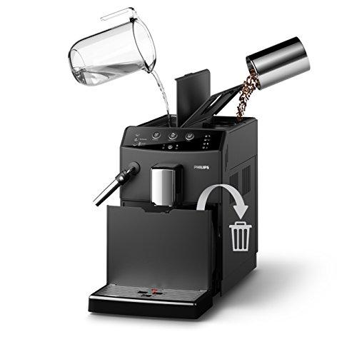 Philips 3000 Serie HD8827/01 Kaffeevollautomat (1850 W, klassischer Milchaufschäumer) schwarz - 5