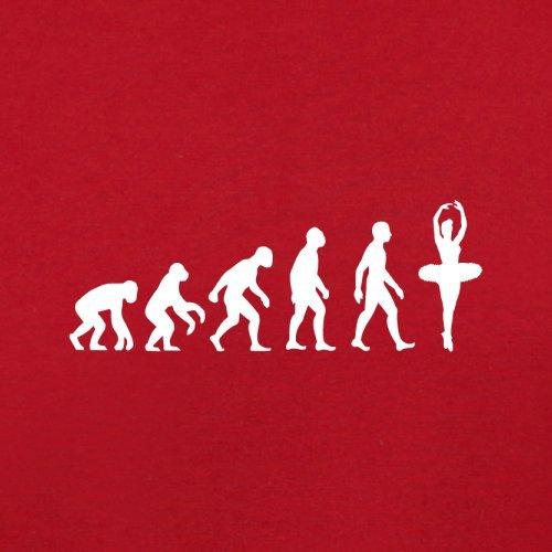 Evolution of Man - Ballett - Damen T-Shirt - 11 Farben Rot