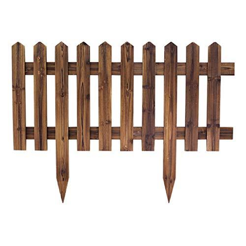 LJFYMX beeteinfassung Als der Einsatz Zaun/Holzrahmen/Blumenbeete, Rasenkante oder Rand Zaun/natürliche Farbe des imprägnierten wetters Lattenzaun (Size : 90*h30/50cm) -