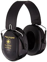 3M Peltor Bull's Eye II Kapselgehörschutz, Zusammenklappbarer Kopfbügel, SNR 31 dB, schwarz