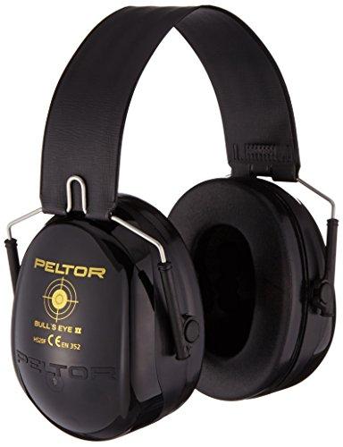 3M H520FSV Peltor Bull's Eye II Kapselgehörschutz, Zusammenklappbarer Kopfbügel, SNR 31 dB, Schwarz