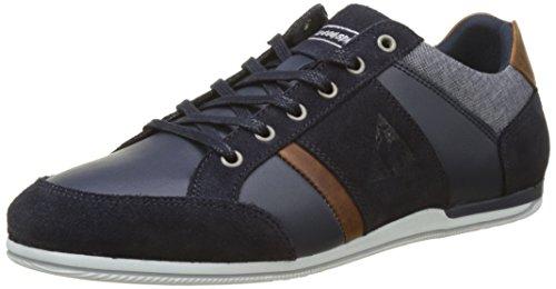 Le Coq Sportif Herren Cernay Leather/Chambray Sneaker, Blau Preisvergleich