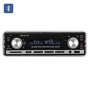 Autoradio stéréo Bluetooth 1 DIN - Aux+USB+carte SD / MP3 / WAV / WMA / FM / 4 sorties pour haut-parleur 45W