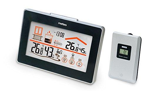 Meteo sp59N estación metereológica con alarma higrómetro termómetro reloj despertador de anuncios de confort Sensor exterior