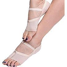 ANGTUO Belly/Ballet Dance Toe Pad Práctica calzado pie protección calcetines polainas de traje(1 par),piel de color,M