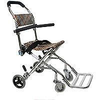 G&M aleación de aluminio portable de la mano con silla de ruedas silla de ruedas plegable Luz de ancianos ancianos discapacitados