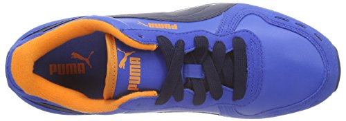 Puma Cabana Racer SL Jr, Sneakers Basses mixte enfant Bleu - Blau (puma royal-peacoat 36)