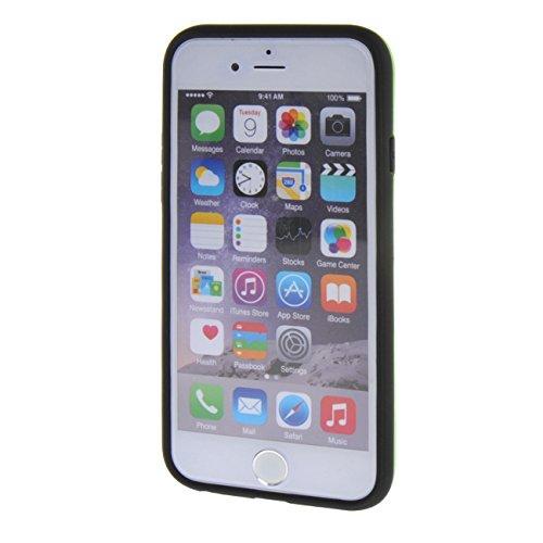 "MOONCASE pour Apple iPhone 6 / 6S (4.7"") Case Coque Silicone Gel TPU Etui Housse Case Cover Hot Rose Vert #0201"