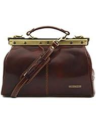 Tuscany Leather - Michelangelo - Mallette infirmière rétro en cuir - TL10038