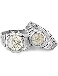 Resistente al agua deportes al aire libre resplandor reloj de cuarzo los hombres de negocios y relojes Lady–pareja blanco