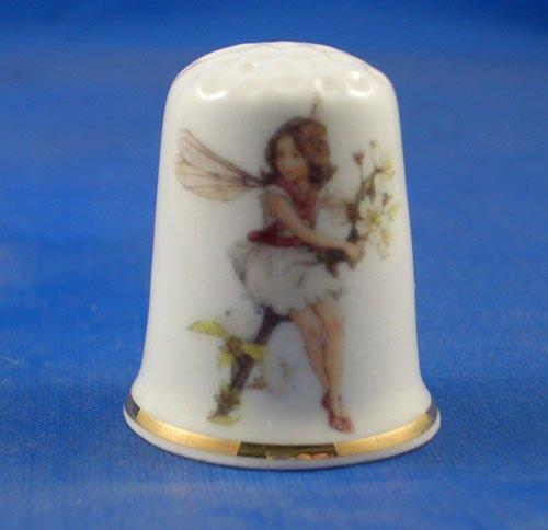 Porcellana cinese collezione ditale Apple Blossom Fairy