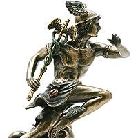Veronese Estatua de Dios Romano Griego de Mercurio Hermes, Acabado en Bronce, 21 cm