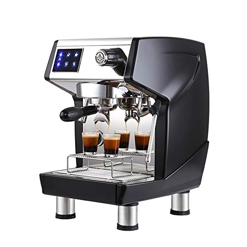 Ledu Espresso-Maschine, 3000W Verbraucher und kommerzielle halbautomatische Pumpe Dampf Espressomaschine Milchkaffeeausrüstung,Black - Kommerzielle Espresso-maschine