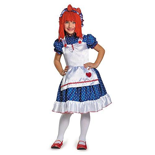Ann Kind Kostüm Raggedy - Disguise 84081M Raggedy Ann Costume, X-Small (3T-4T)